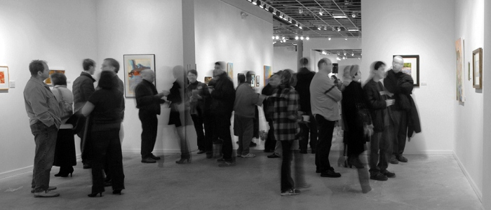 Opening reception for Art Saint Louis January 2012 exhibitions. Photo: Wm Daniel File