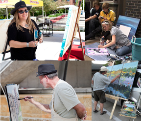 Artists Jennifer Hayes, Erin McGrath Rieke, Michael Anderson and Lon Brauer will be creating artworks on-site during our opening event on July 26. Guests are welcome to join in on the artmaking--just bring your own supplies!