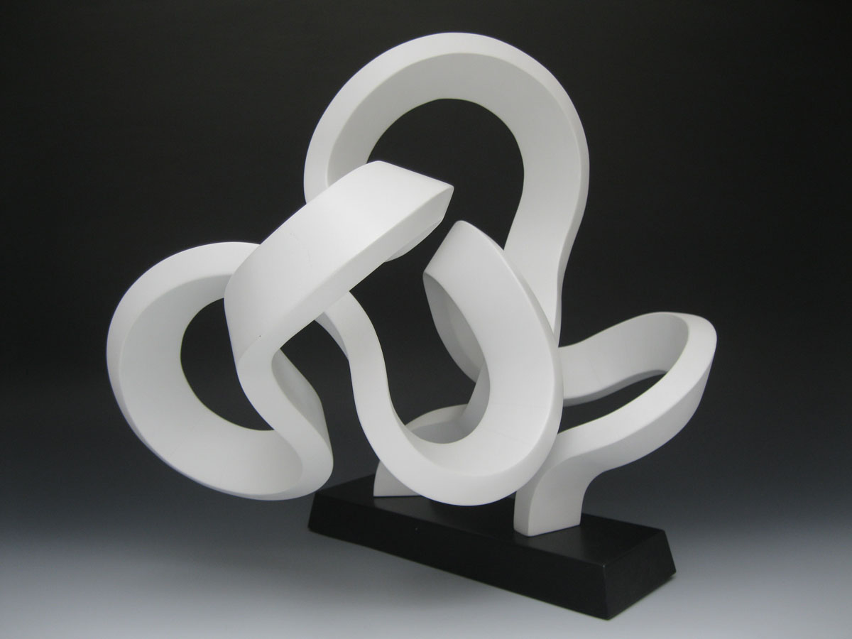 "Steve Frank, St. Louis, MO. ""Knot."" 2012. Wood, Painted Finish, 13""x17""x12"". $1,200."
