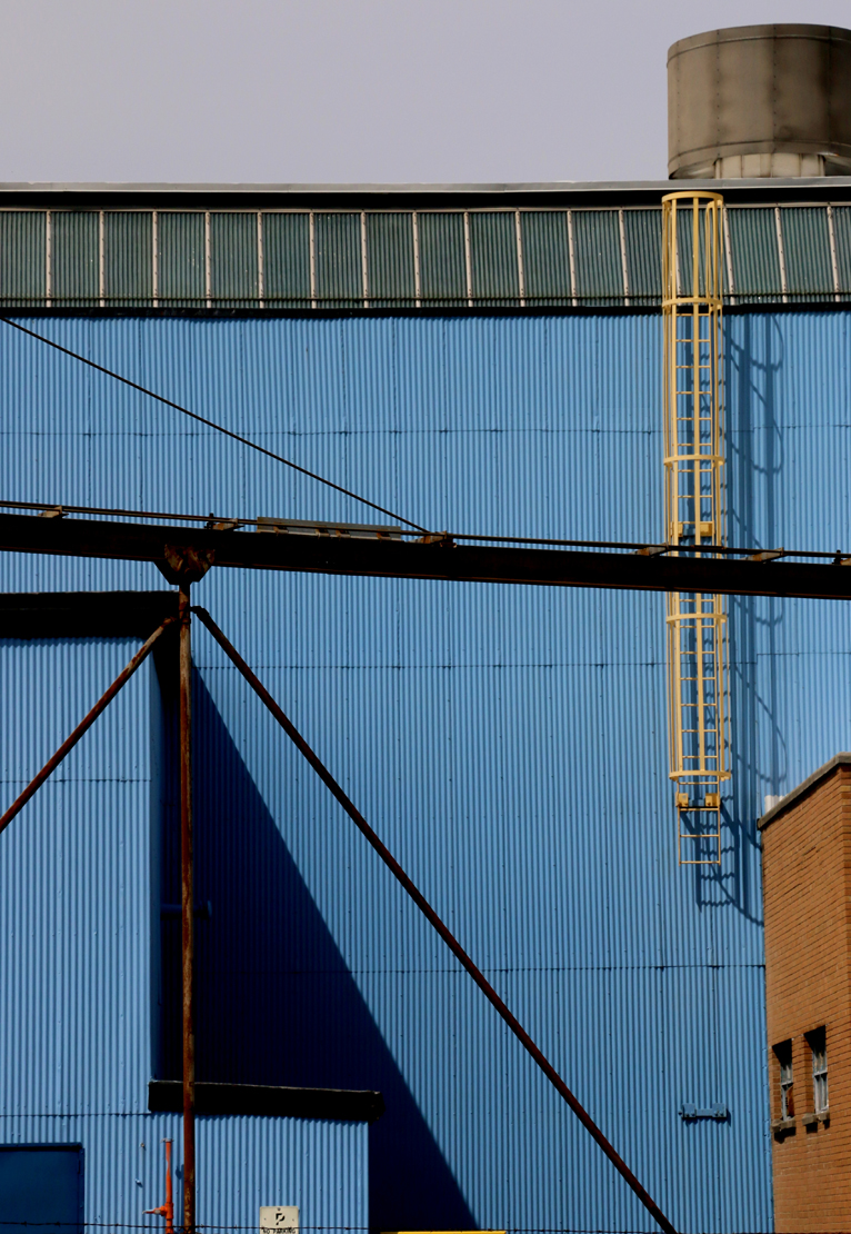 "Michael Rudolf. ""Blue Geometry."" 2014. Photograph on Metal. 30""x20"". $375."