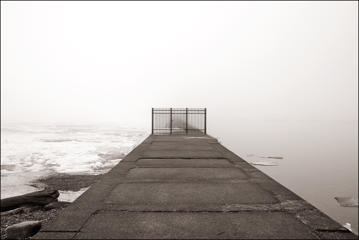 "Dennis Staffne. ""Breakwater Gate."" 2014. Photography, 24""x30"". $400. The Juror selected this artwork for an Honorable Mention."