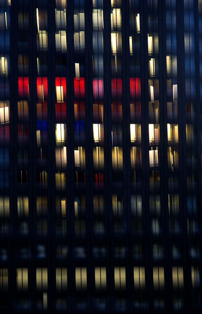 "Christine Giancola, Florissant, MO. ""Windows at Night III, New York City."" 2017. Photograph, Digital Print, 20""x24"". $500. This work was selected by Juror Daniel Anderson for an Award of Excellence."