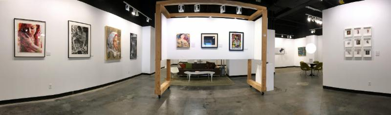 Panoramic gallery view, Art St. Louis XXXIV, The Exhibition. Photo by Robin Hirsch-Steinhoff.