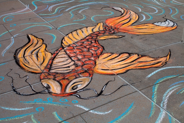 Chalk art by Russell Conklin