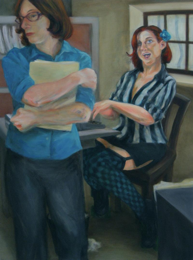 "Elizabeth M. Willey, St. Louis. MO. Dialectic Personae: Morgan/Blueberry. 2012. Oil on Canvas, 48""x36"". $1,500."