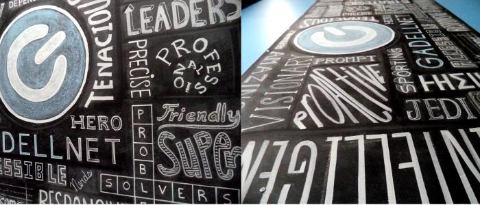 Desciptors for GadellNet, IT consulting and software development firm in St. Louis. Art by Chalk Riot.