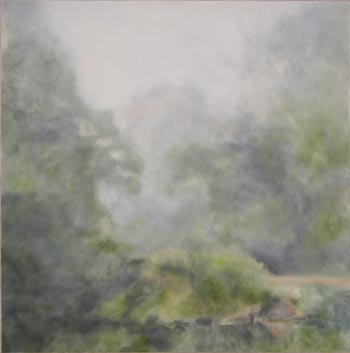 "Ann Homann. ""Aubade from Morning Missed Series No. 3."" 2012. Oil on Canvas, 36"" x 36"". Not for sale."