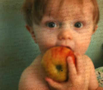"Margaret Nicholson. ""An Apple a Day."" Photograph, 16""x20"". Not for sale."