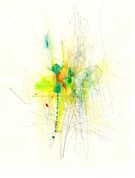 "Sydnor Scholer. ""Untitled."" 2013. Watercolor, Graphite, Colored Pencil on Paper. 20""x16"". Not for Sale."