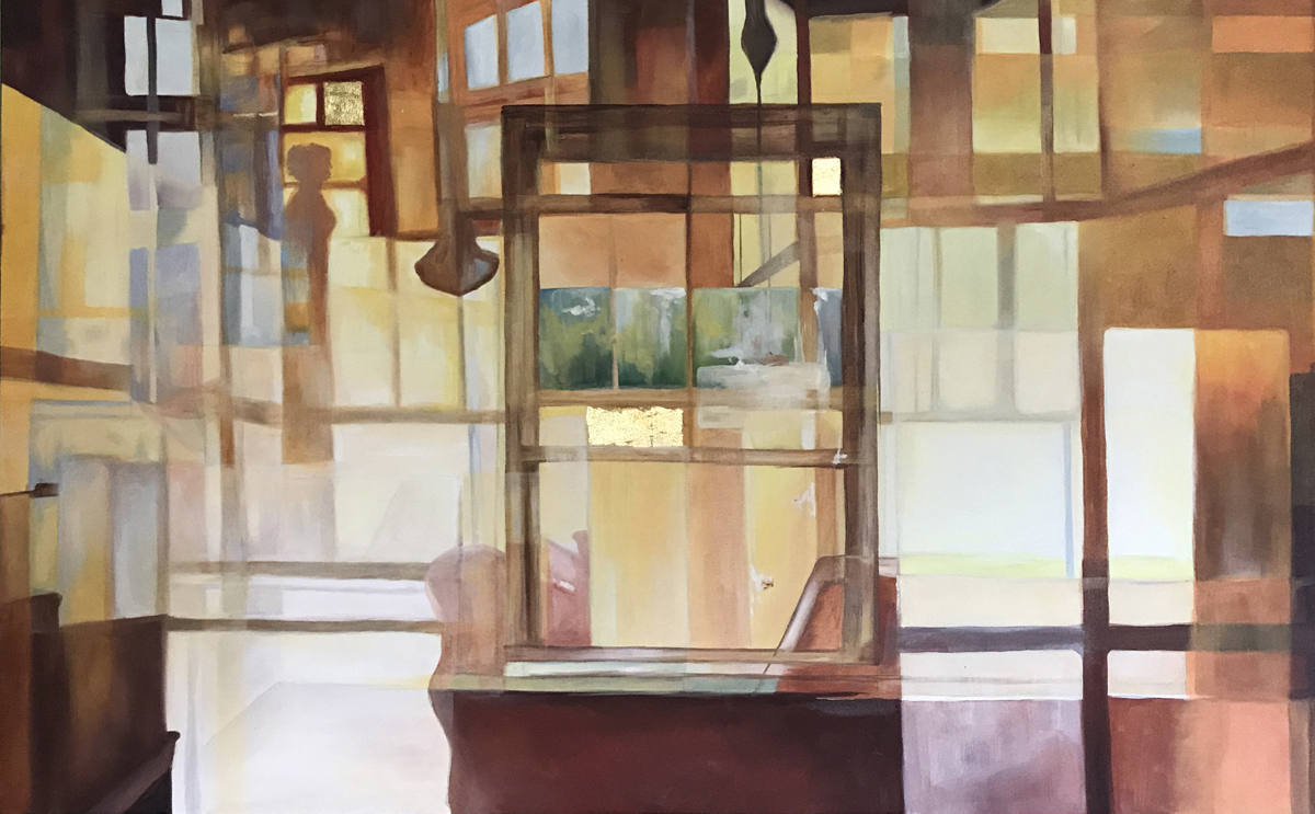 "Sarah Bernhardt, St. Louis, MO. ""Studio."" 2016. Oil on Canvas, 36""x52"". $800. The exhibition Jurors selected this artwork for the Best of Show Award."